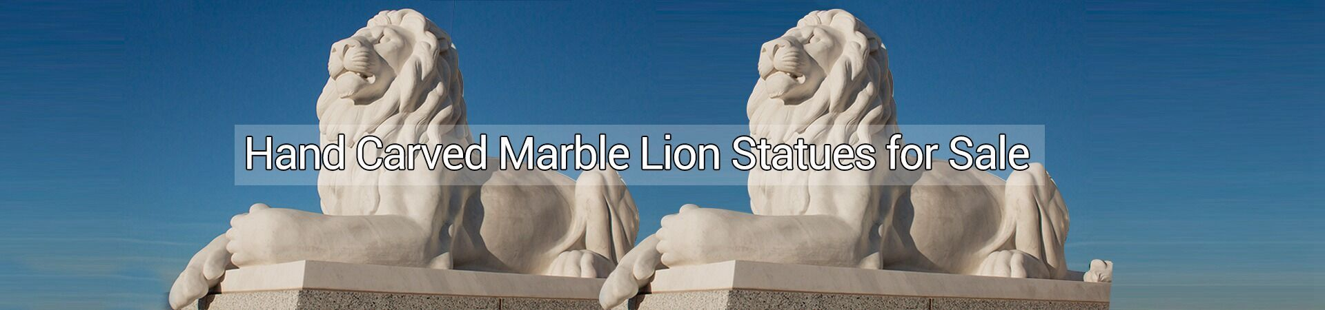 pair lion statue with ball reclining marble