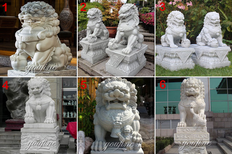 flying stone lion statue
