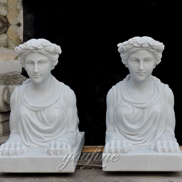 classical marble stone giant sphinx statue for sale for front porch