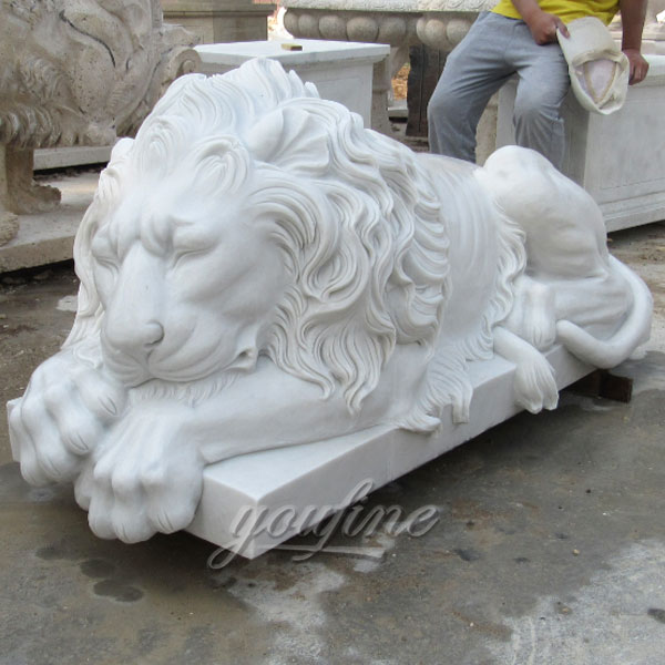 Stone Lions Garden Ornaments For USA Customer