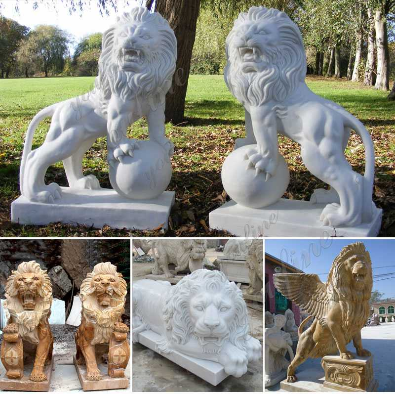 Life Size Western Marble Lion Statue with Base related product