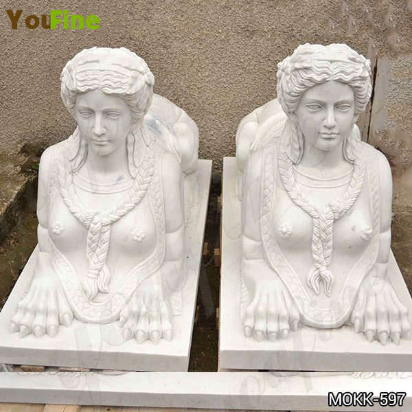 Classical Life Size Marble Egyptian Sphinx Statue House Decorations Wholesale MOKK-597