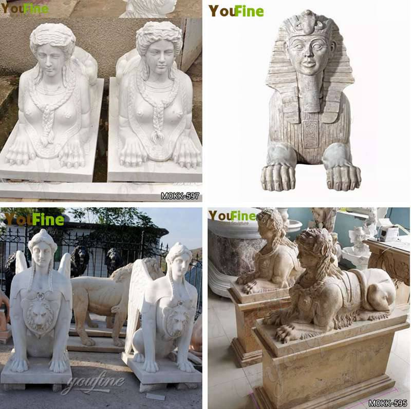 Classical Life Size Marble Egyptian Sphinx Statue House Decorations Wholesale Other Designs