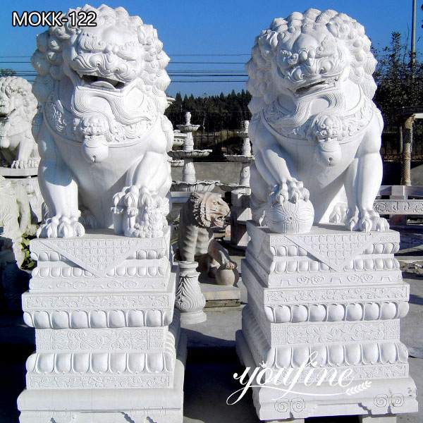 Pair of Traditional Chinese Lion Statue Door Entrance for Sale MOKK-122
