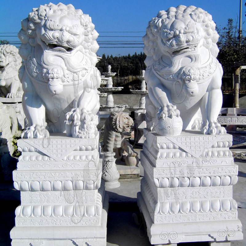 Pair of Traditional Chinese Lion Statue Door Entrance for Sale MOKK-122 Details