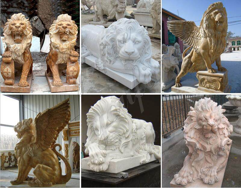 Pair of Traditional Chinese Lion Statue Door Entrance for Sale More Designs