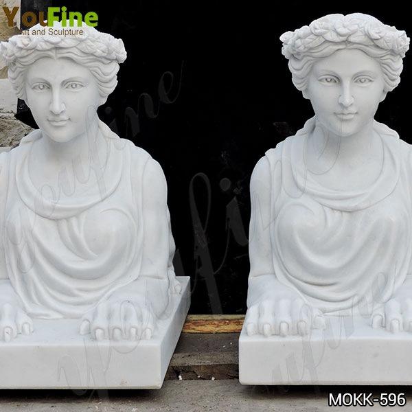 Large Sphinx Statue Stone Lion Statues Door Entrance for Sale MOKK-596