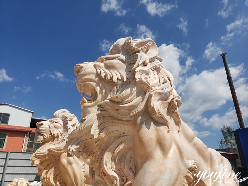 Life size marble lion statue (4)