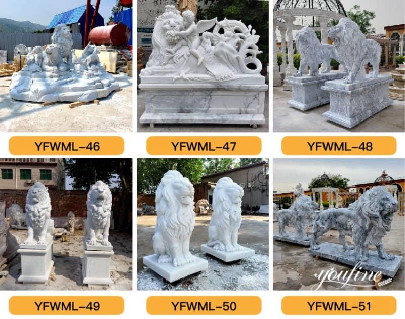 marble lion sculpture