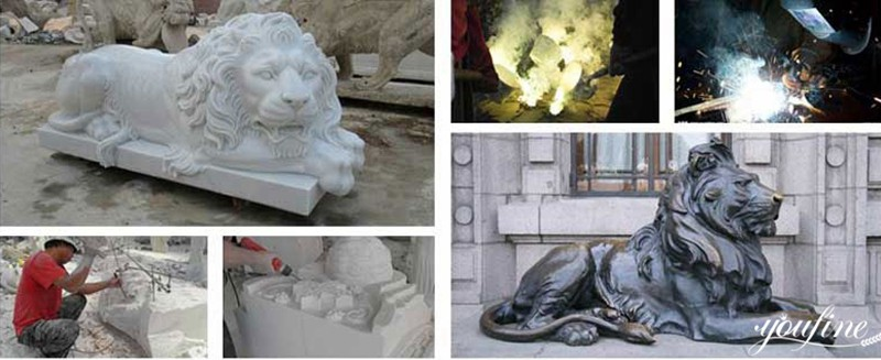 marble lion statue for sale