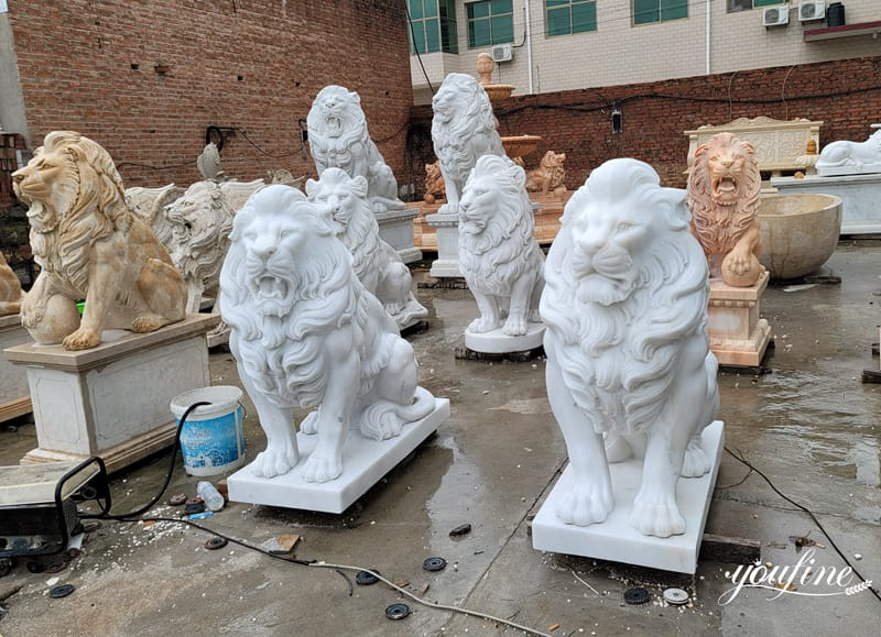 Life size marble lion statue (1)Life size marble lion statue (1)