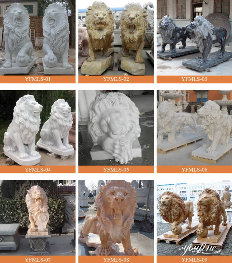 lion statue home decor (1)