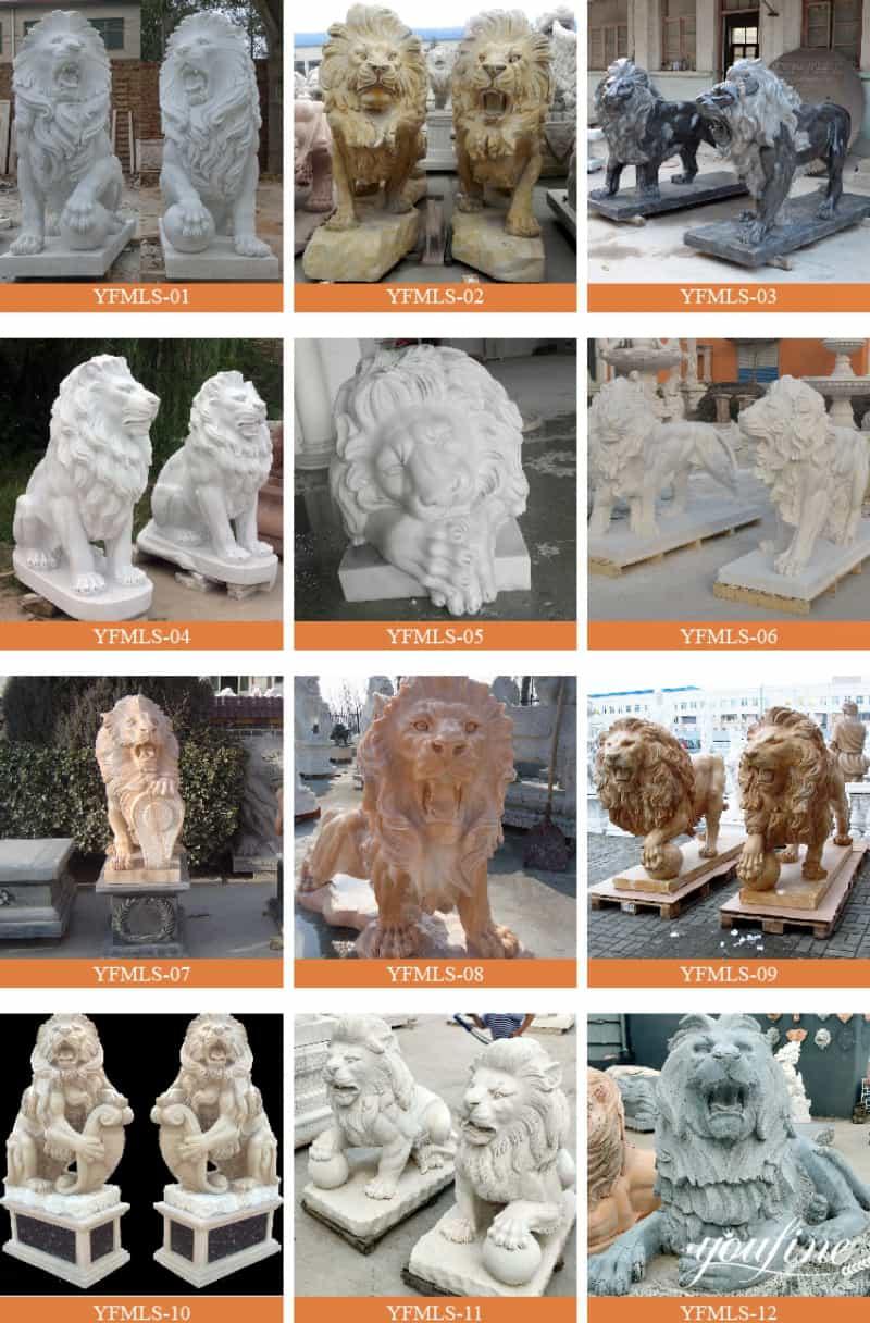 marble lion statue (2)