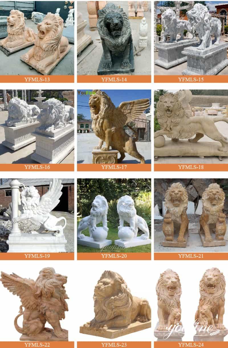 marble lion statue (3)